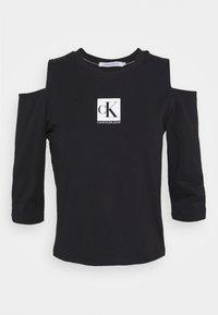 Calvin Klein Jeans - COLD SHOULDERS BOX LOGO TEE - Long sleeved top - black - 3
