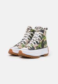 Converse - RUN STAR HIKE ARCHIVE GONE WILD UNISEX - Sneakers hoog - candied ginger/piquant green/white - 1
