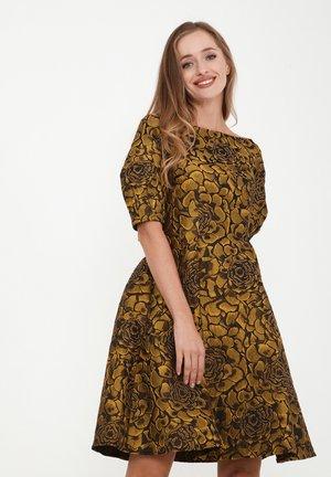ROBERTA - Cocktail dress / Party dress - schwarz, senf