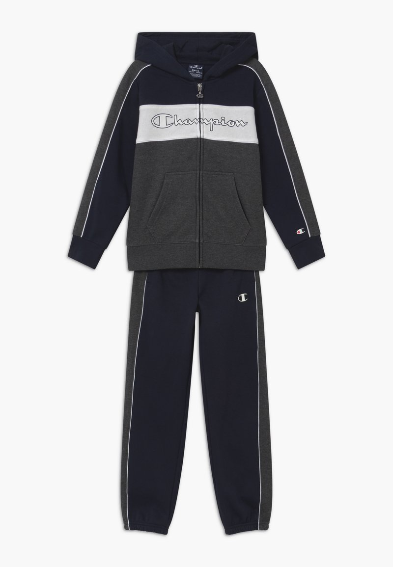 Champion - LEGACY HOODED FULL ZIP SUIT SET - Tracksuit - dark blue