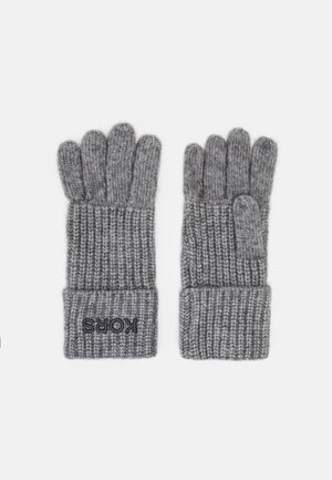 EMBROIDERD GLOVE - Gloves - ash melange/charcoal