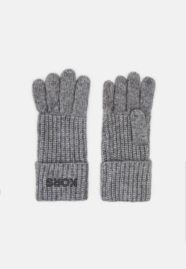 EMBROIDERD GLOVE - Sormikkaat - ash melange/charcoal
