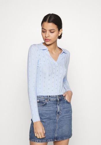 WITH LONG SLEEVES - Maglione - light blue