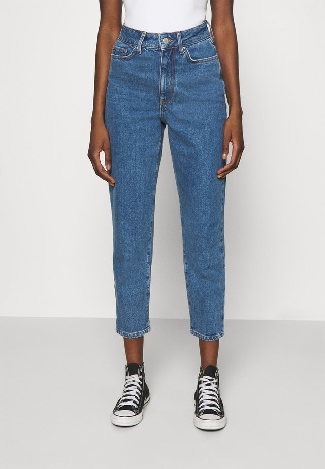 Mom Fit jeans - Straight leg jeans - blue denim