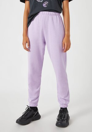LILA BASIC - Tracksuit bottoms - dark purple