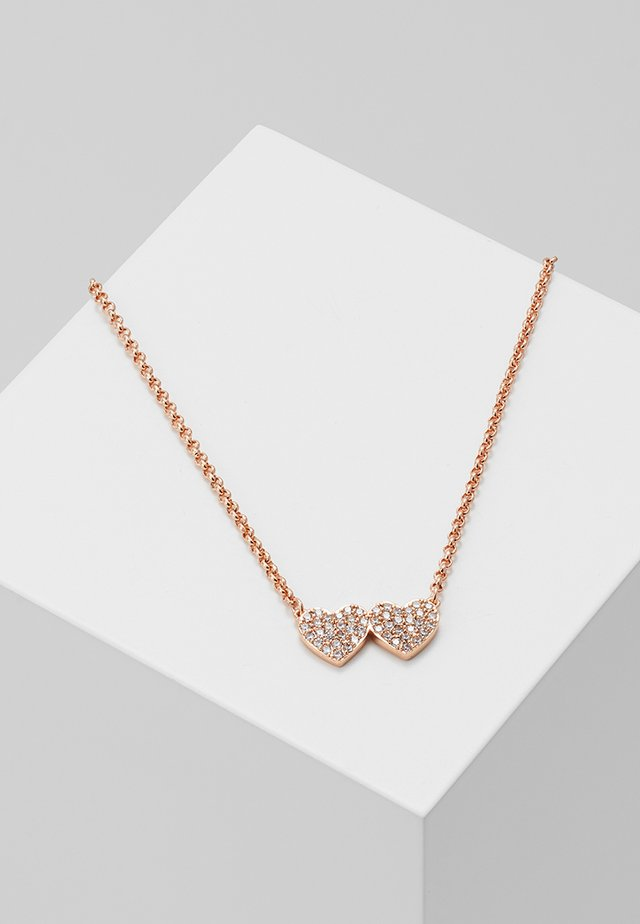 YOURS TRULY PAVE HEART MINI PENDANT - Collar - clear/rose gold-coloured