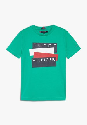STICKER TEE  - T-shirt med print - green