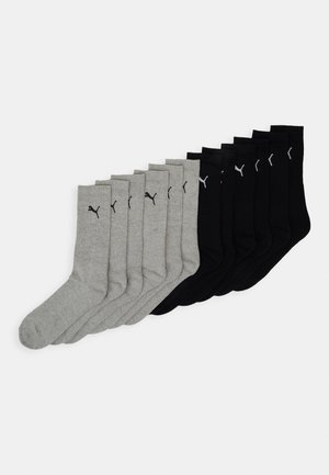 SPORT CUSH CREW 12 PACK - Sports socks - black/grey