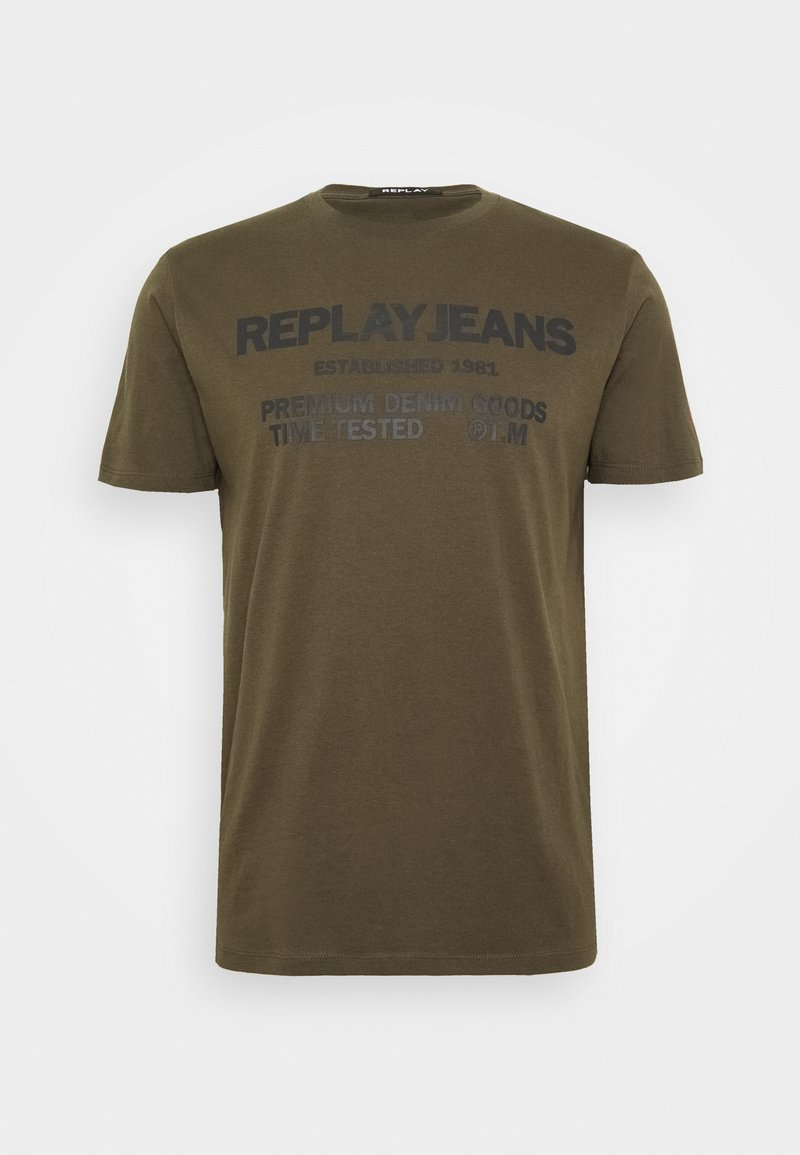 Replay - T-shirt con stampa - military