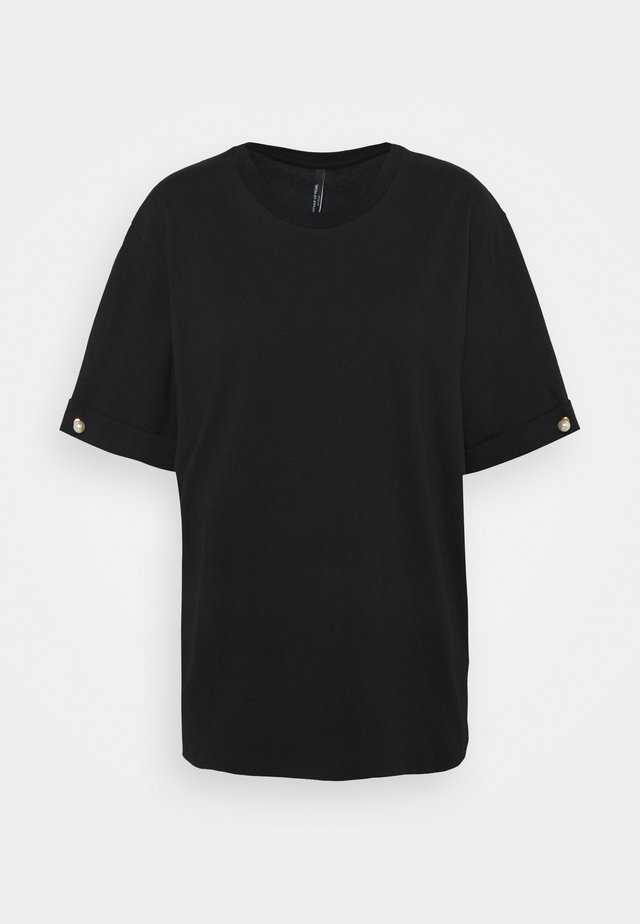 PEARL BAR SLEEVE - T-shirt basique - black