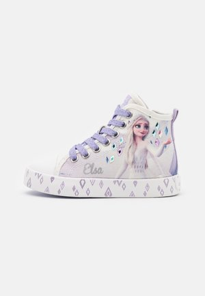 Disney Frozen Elsa GEOX JUNIOR CIAK GIRL - High-top trainers - white/lilac