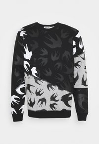 McQ Alexander McQueen - SEAMED TEE CUT UP - Sweatshirt - black/grey - 0