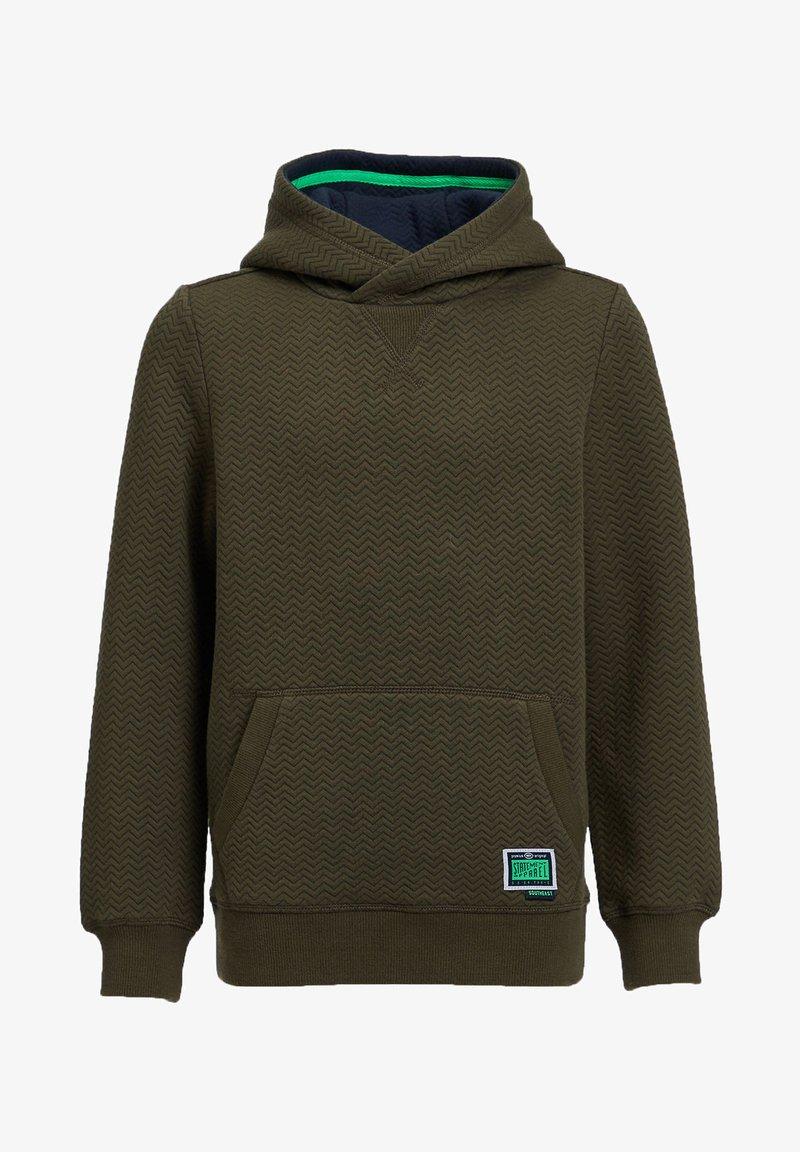 WE Fashion - MET ZIGZAGDESSIN - Hoodie - dark green