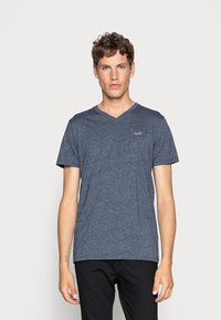 Hollister Co. - 5 PACK  - T-shirt imprimé - white/grey/red/navy texture/black - 1