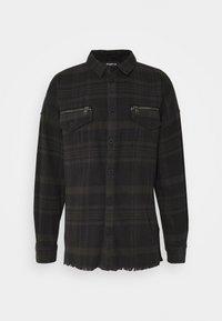 ALBERT - Short coat - black/anthra