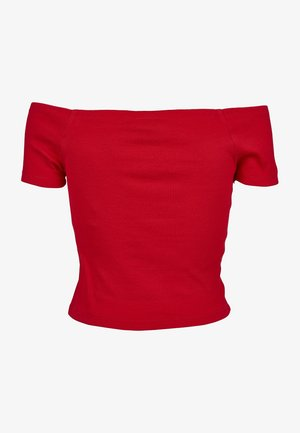 T-shirt z nadrukiem - fire red