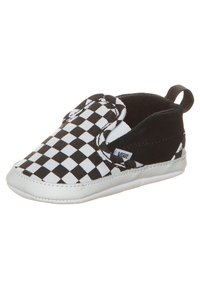 Vans - SLIP-ON V CRIB - First shoes - black/true white - 6