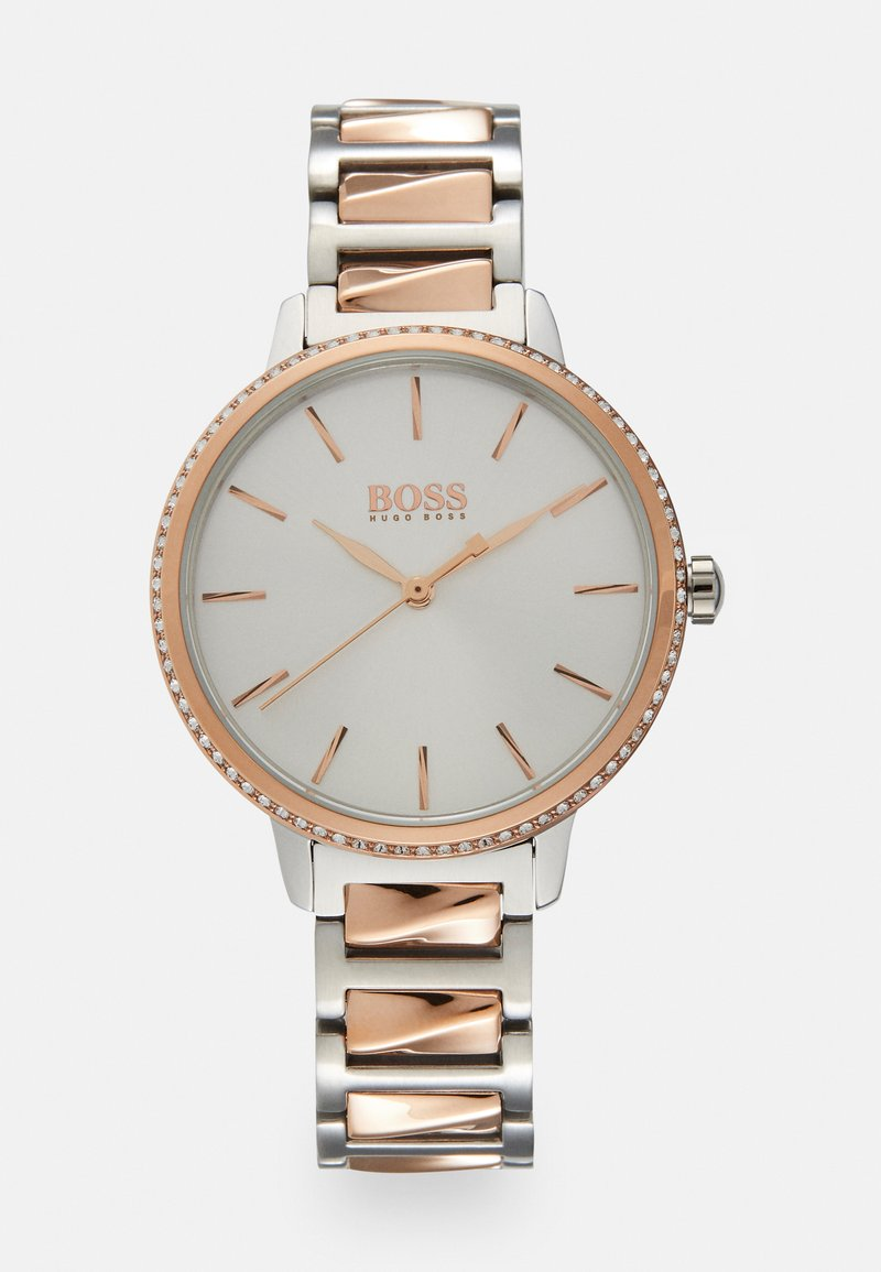 BOSS - SIGNATURE - Hodinky - silver-coloured/rose gold-coloured