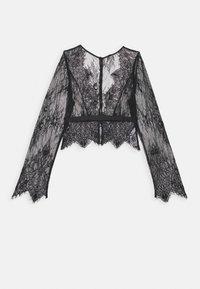 Hunkemöller - ALLOVER  - Haut de pyjama - black - 4