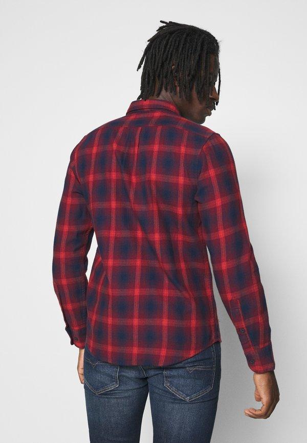 Lee BUTTON DOWN - Koszula - dark blue/red/granatowy Odzież Męska RFBK