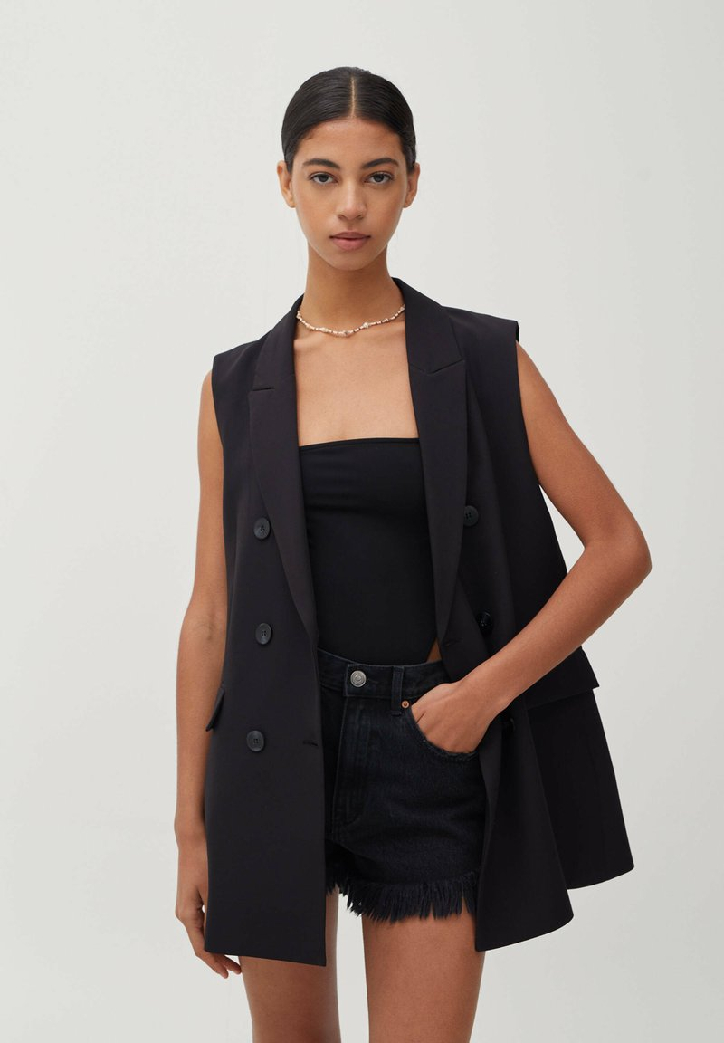 PULL&BEAR - Waistcoat - black