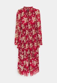 Missguided Petite - KEYHOLE FRILL MAXI DRESS FLORAL - Day dress - red - 0