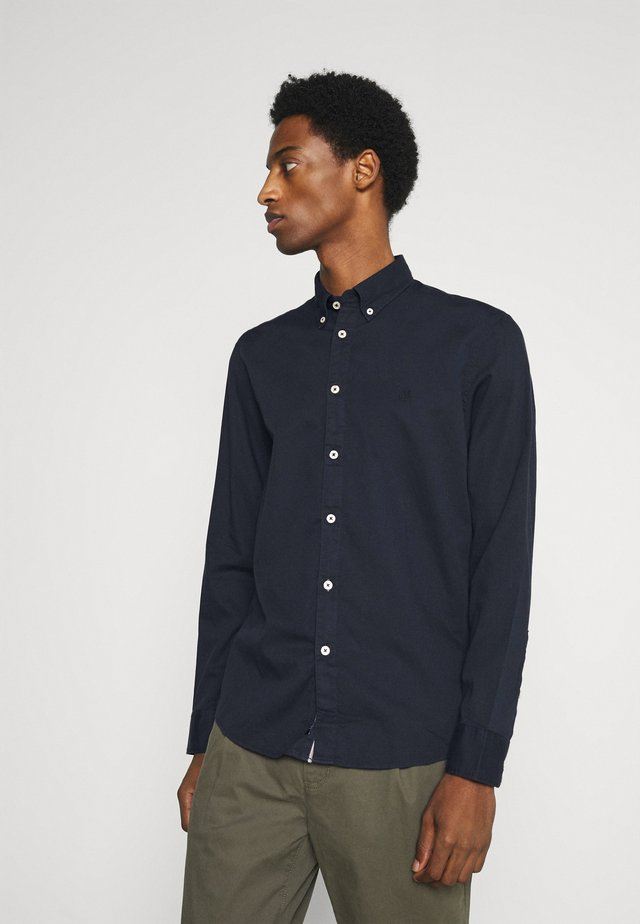 BUTTON DOWN LONG SLEEVE INSERTED - Overhemd - total eclipse