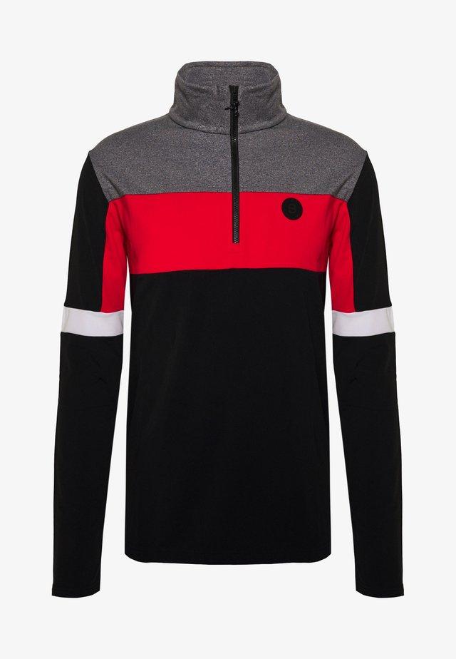 GAVIO ZIP - Fleece jumper - black