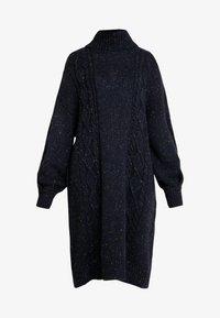Monki - VALDA DRESS - Strikket kjole - blue dark - 4