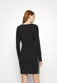 Tommy Jeans - TAPE DETAIL LONGSLEEVE DRESS - Jersey dress - black - 2