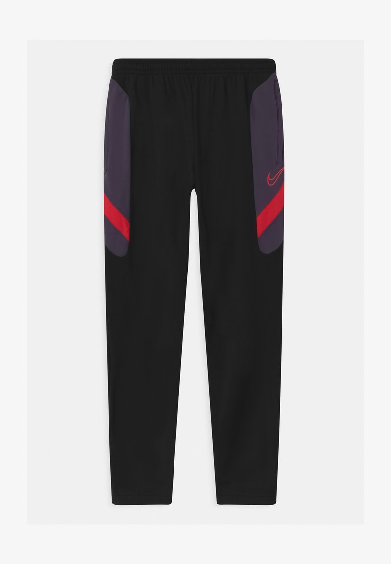 Nike Performance - DRY ACADEMY - Tracksuit bottoms - black/dark raisin/siren red