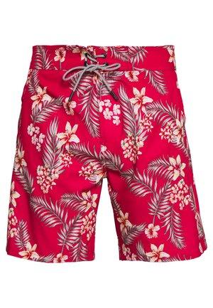 IALOHA SURFER SWIM FLOWER - Swimming shorts - chili