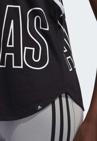 adidas Performance - ALPHASKIN GRAPHIC TANK TOP - Top - black - 6