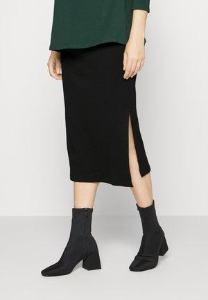 SPLIT SIDE SKIRT - Pencil skirt - black