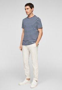 s.Oliver - Print T-shirt - blue stripes - 1