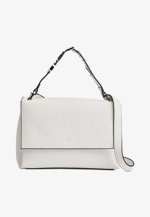 FLAP SHOULDER BAG - Handbag - white