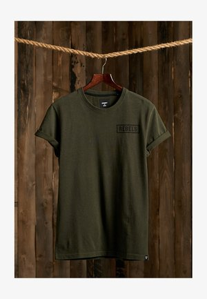T-Shirt print - dark grey green