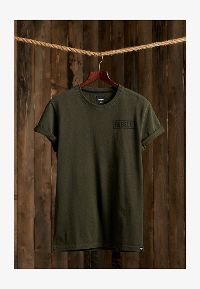 T-shirt imprimé - dark grey green