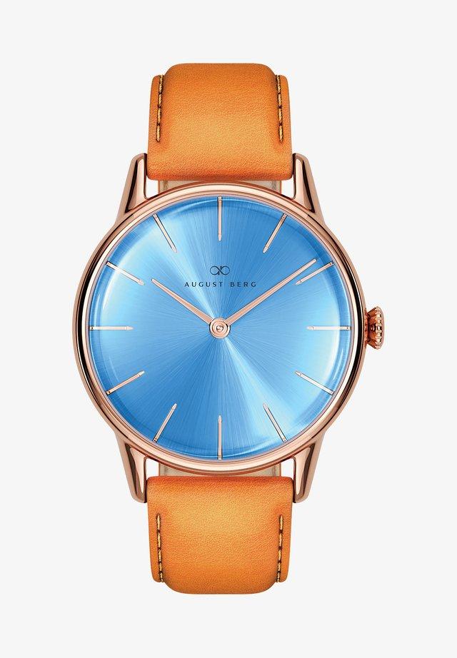 UHR SERENITY SKY BLUE LEATHER 32MM - Horloge - sky blue