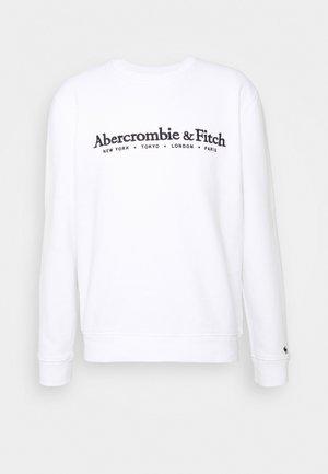 HOLIDAY TECH LOGO CREW - Sweatshirts - white
