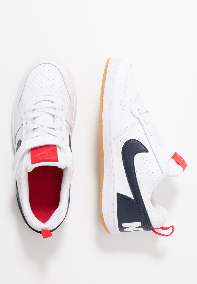Nike Sportswear - COURT BOROUGH - Trainers - white/obsidian/university red/light brown