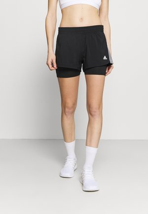 PACER 2 IN 1 - Sports shorts - black/white