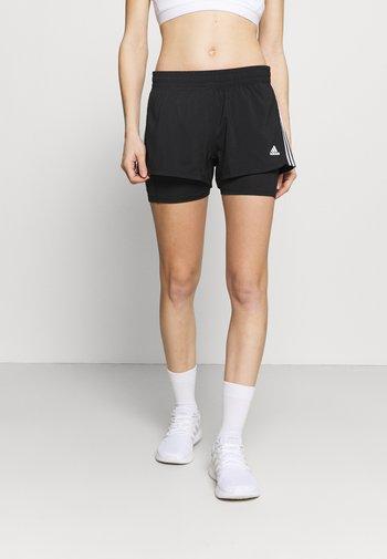 PACER  - Sports shorts - black/white