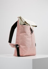 Enter - CITY FOLD TOP BACKPACK - Batoh - melange red/natural - 3