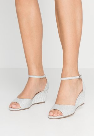 JEMMA - Wedge sandals - silver