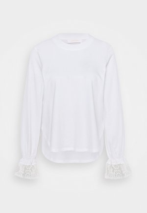 Long sleeved top - white powder