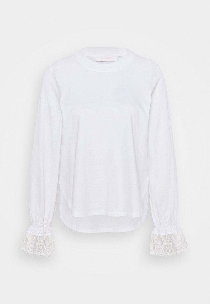 See by Chloé - Top sdlouhým rukávem - white powder