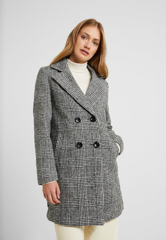 WHITNEY CHECK COAT - Manteau classique - black