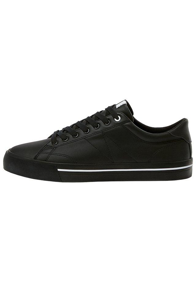 SNEAKER MIT BLOCKABSATZ MIT STREIFEN 12209540 - Sneakersy niskie - black