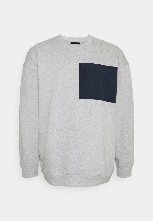 UTILITY CREW NECK - Sweatshirt - grey melange